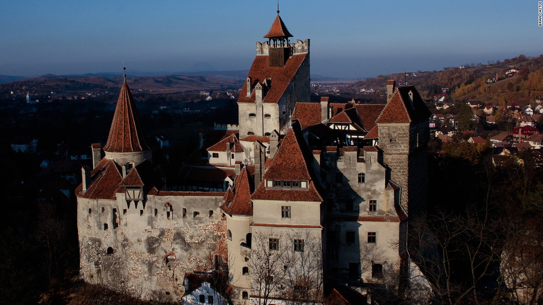 "Located just outside the Romanian city of Brasov, Bran Castle was made famous by Irish author Bram Stoker's novel ""Dracula,"" published in 1897."