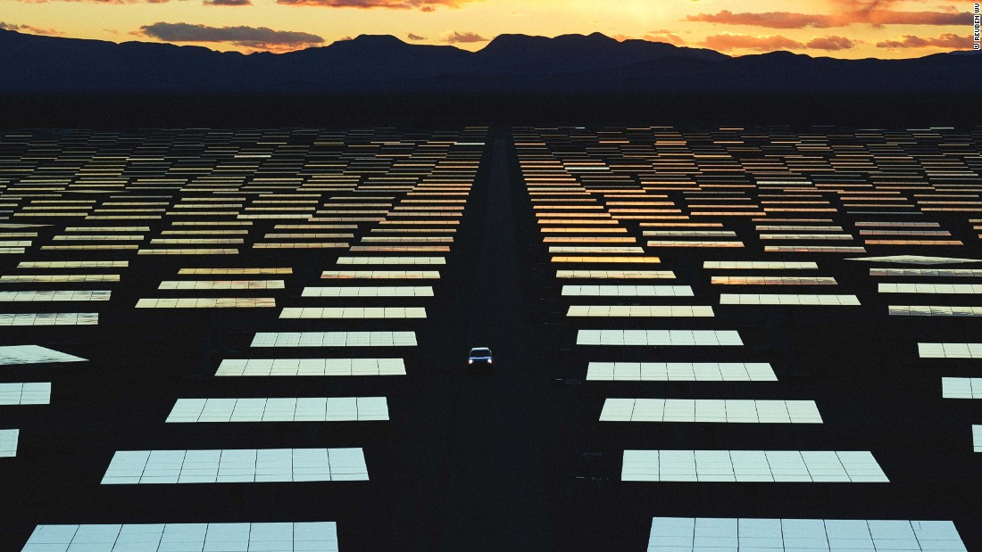 """I discovered the solar reserve when I was driving across America. I saw this kind of weird glint of brightness -- like an unnatural sun -- in the landscape with an array around it,"" Wu told CNN. The Briton is a founding member of UK electro band Ladytron and starting taking photos on road trips when touring the US."