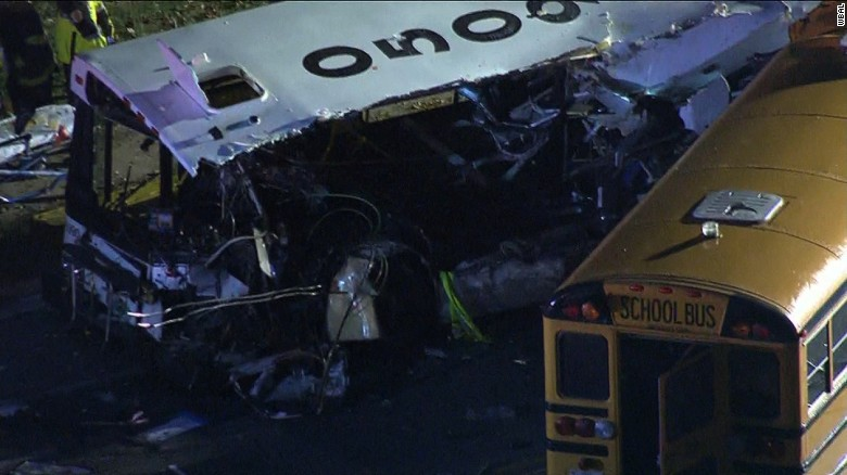 3 dead after two buses collide in Baltimore