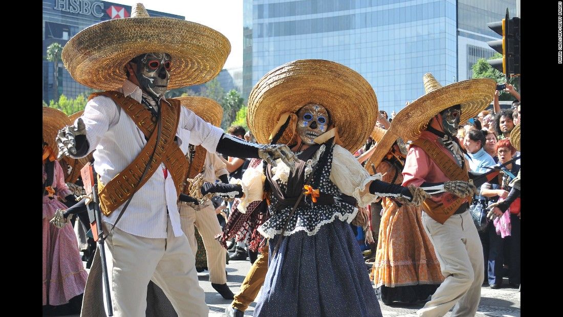 The Day of the Dead festival traditionally takes place on November 1 and 2, when Mexicans believe the gates to the afterlife open and their loved ones return to join in celebrations.