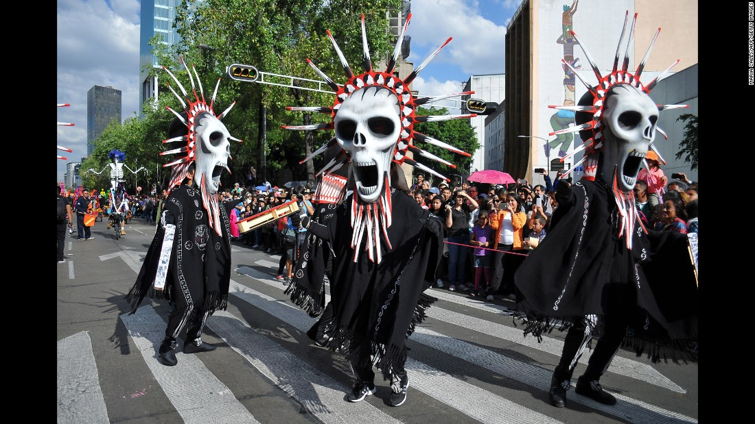 The Day of the Dead holiday dates back to Aztec times. Despite the skulls, it's a celebration of life. Children are taught not to fear death but to embrace and enjoy every moment.
