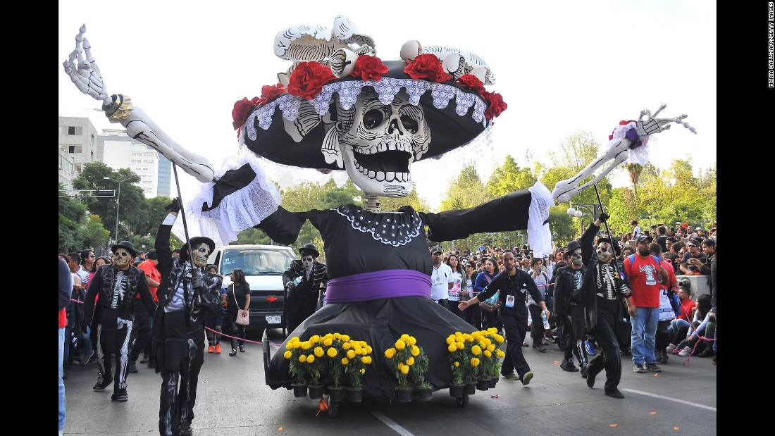 The Day of the Dead holiday is also a chance for Mexicans to honor relatives and loved ones who have passed on.