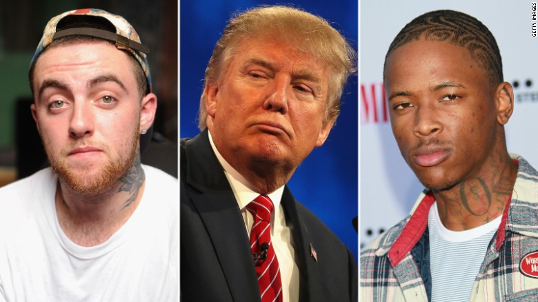 Donald Trump in hip-hop, before and after
