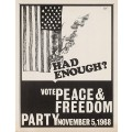 election poster peace and freedom