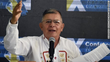 "Commander Ricardo Tellez aka ""Rodrigo Granda"", member of the direction of the Revolutionary Armed Forces of Colombia (FARC), speaks during the 10th National Guerrilla Conference in Llanos del Yari, Caqueta department, Colombia, on September 23, 2016.  FARC rebels will keep Timoleon ""Timochenko"" Jimenez as their leader when they relaunch as a political party under a historic peace deal, a commander said Thursday. ""There's no doubt that Timochenko will be confirmed"" as head of the organization that replaces the Revolutionary Armed Forces of Colombia (FARC) under the peace process, commander Carlos Antonio Lozada told AFP. / AFP / GUILLERMO MUNOZ        (Photo credit should read GUILLERMO MUNOZ/AFP/Getty Images)"