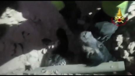 cnnee vo perro rescatado tras terremoto en italia dias despues _00000425