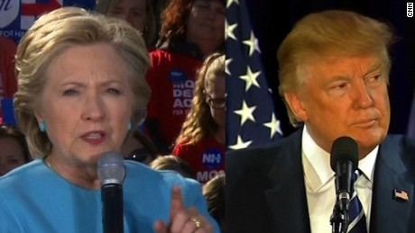 clinton trump new hampshire pkg