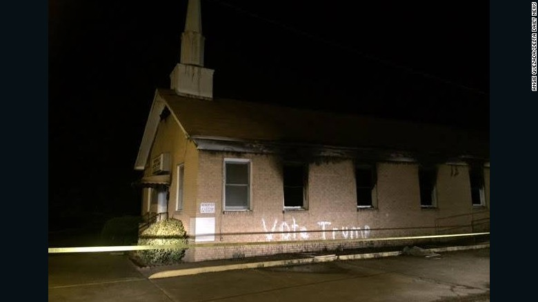 Church burned, vandalized with 'Vote Trump' graffiti