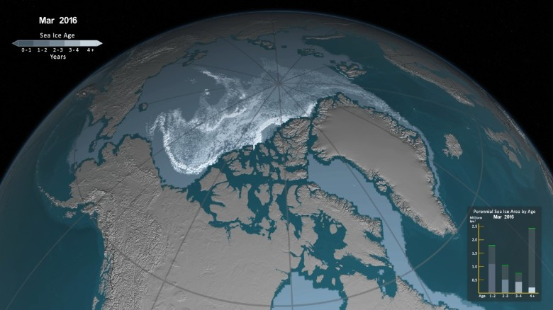 Watch Arctic sea ice disappear