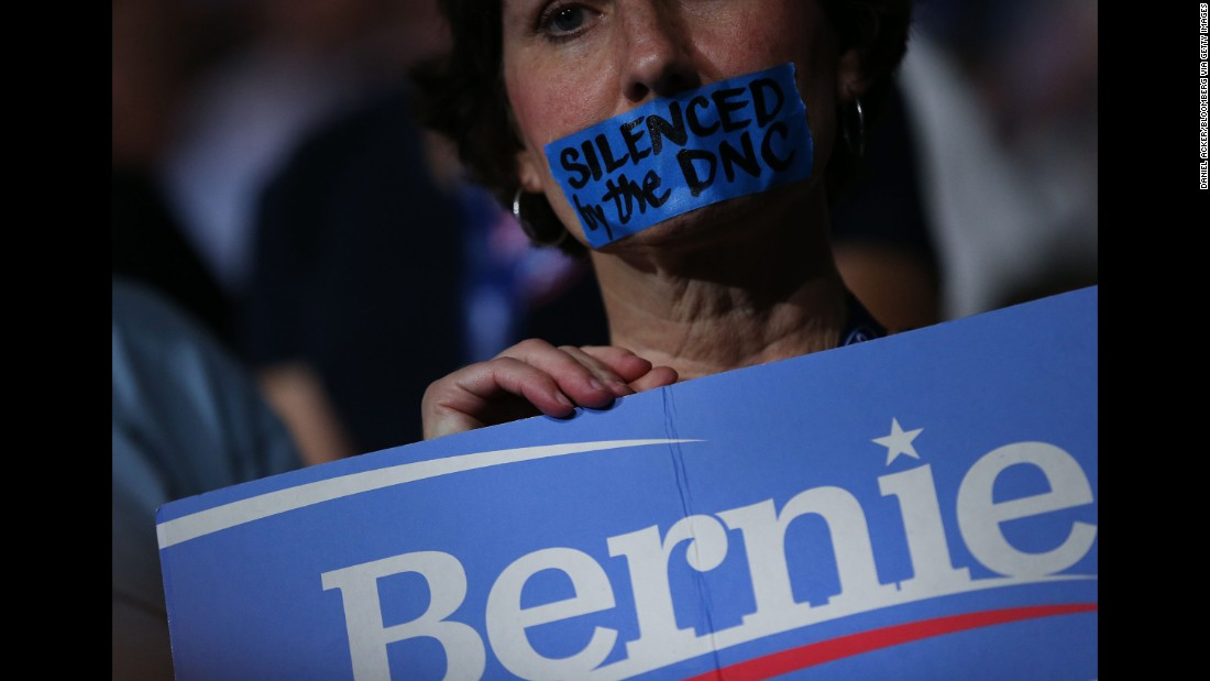 Because of the leaked committee emails, many Sanders supporters entered the convention upset.