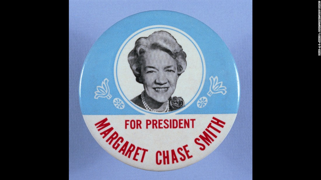 Margaret Chase Smith was a U.S. senator from Maine who ran for President in 1964. She received 22 votes from four different states in the Republican primaries. Smith was also the first woman to be elected to both houses of Congress.