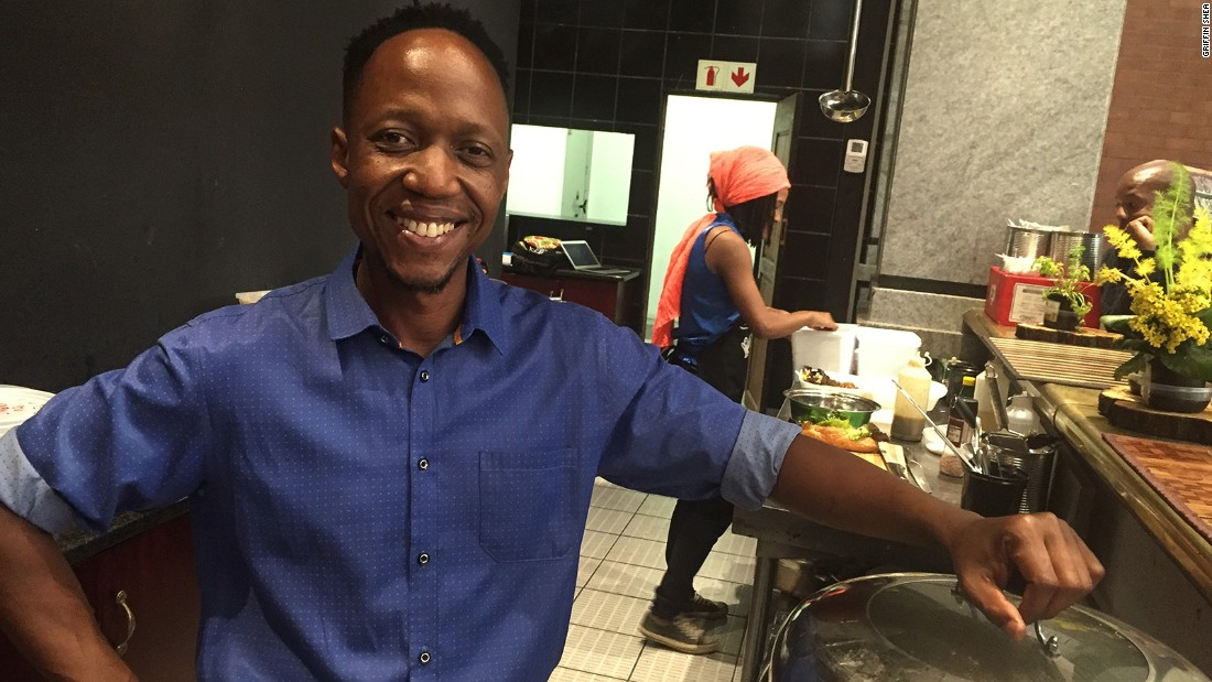 Nqobani Mlagisi grew up on a farm in Zimbabwe, where grilling, smoking and curing meats was a part of everyday life. He now works as a braai chef in Johannesburg.