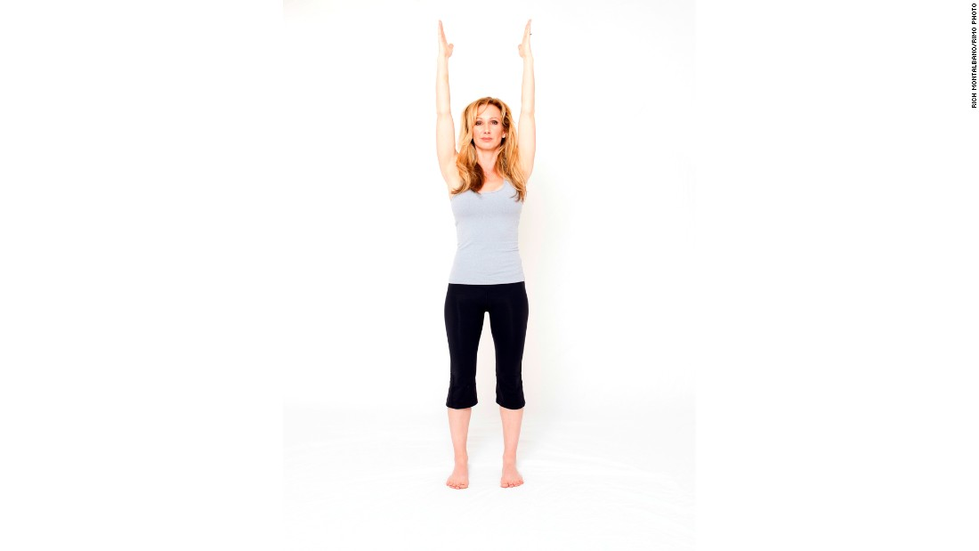 "If you want to feel powerful, strike an open-body power pose by standing with your arms overhead or outstretched or, even better, with your hands on your hips like Wonder Woman or Superman. <br /><br />For an added sense of power, add a mantra or positive affirmation to your pose, like ""I feel strong."""