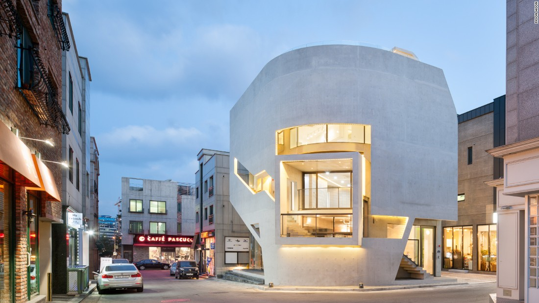 """K-Pop Curve [a building designed for a Korean music agency] has a large balcony interacting with the public domain. It's like the hanok's relationship with the courtyard, but in this case it's with the public streets,"" says Hoon."