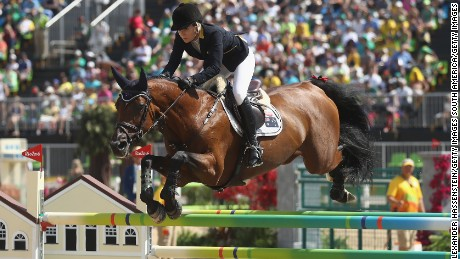 Edwina Tops-Alexander of Australia rides Lintea Tequila during the Rio 2016 Olympics.