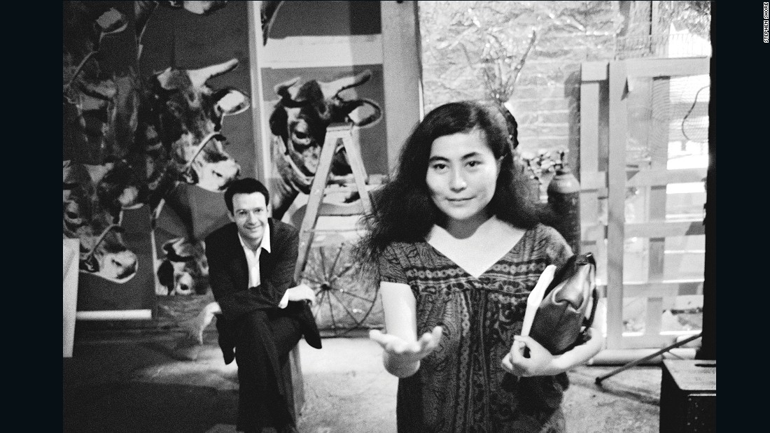 Renowned artists like Yoko Ono (seen here) and Marcel Duchamp passed through the Factory.