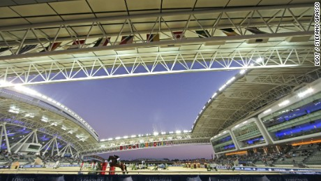 The vast showjumping arena at Al Shaqab.
