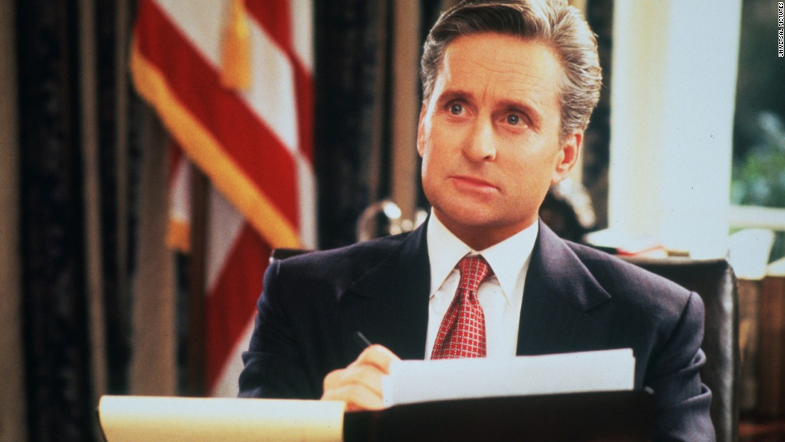 "<strong>""The American President""</strong> is a romantic drama/comedy starring Michael Douglas as the chief commander who falls in love with a lobbyist."
