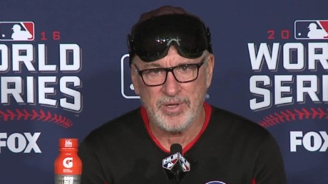 Chicago Cubs World Series win joe maddon presser sot_00000104