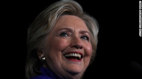 Democratic presidential nominee Hillary Clinton speaks during a campaign rally at Arizona State University on November 2, 2016 in Tempe, Arizona.
