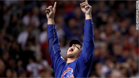 Anthony Rizzo of the Chicago Cubs savors his team's long-awaited title.