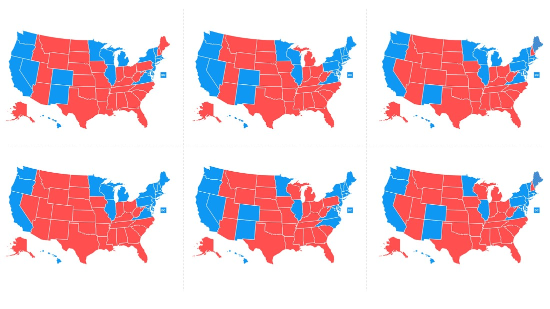 US Election 2016 Trump Victory In Maps BBC News Map Shows Hillary