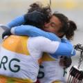 santiago lange hugging