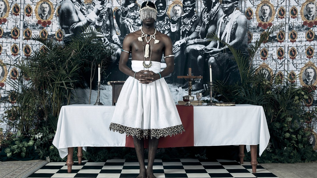 """Zimbabwean artist Kudzanai Chiurai's work entitled """"Genesis""""."""