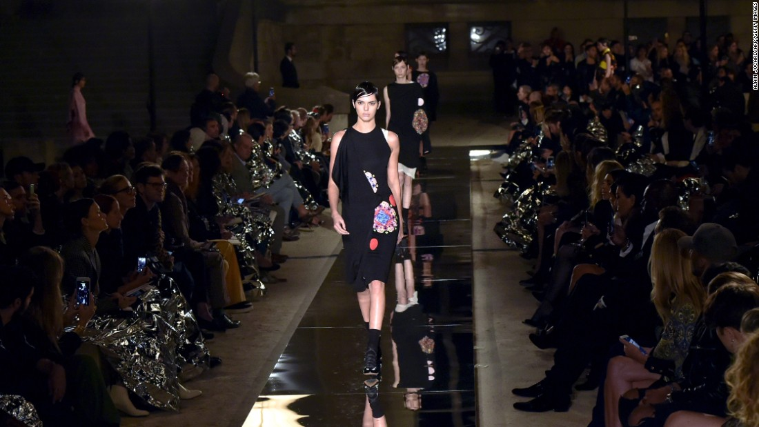 Kendall Jenner has made a big name for herself as a high fashion runway model. This fall, she walked in the Givenchy 2017 Spring/Summer fashion show in Paris. Jenner said Givenchy is one of her favorite brands.