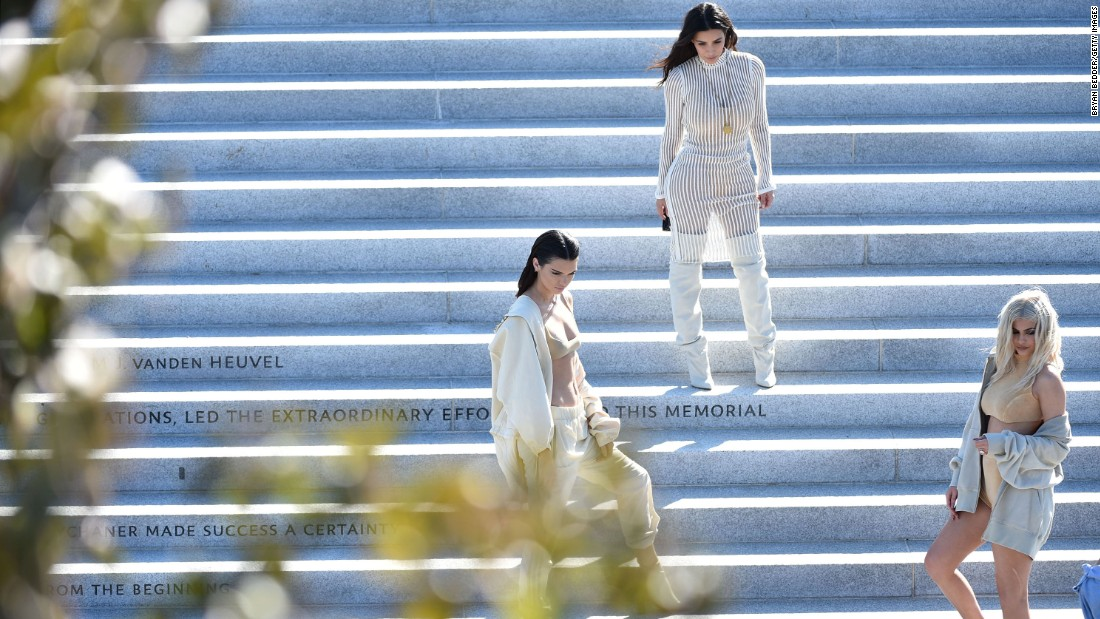 Kendall Jenner isn't afraid to share the spotlight. She and her sister have a clothing line together. She walked in Kanye West's Yeezy Fashion Show this past September.