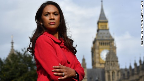 Gina Miller, co-founder of investment fund SCM Private, poses for a photograph near the Houses of Parliament in central London on October 12, 2016, following an interview with AFP. The businesswoman leading a high-powered legal challenge against Prime Minister Theresa May's right to trigger Brexit negotiations told AFP she has received death threats and accusations of treason. Miller, wants parliament to legislate on the terms of Brexit before May can trigger Article 50 of the EU's Lisbon Treaty -- starting the formal procedure for leaving the European Union. / AFP / BEN STANSALL / TO GO WITH AFP STORY BY DARIO THUBURN        (Photo credit should read BEN STANSALL/AFP/Getty Images)