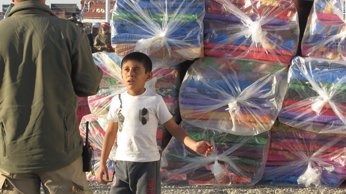Children are among the 18,000 Iraqis already displaced from their homes since the Mosul offensive began October 17.