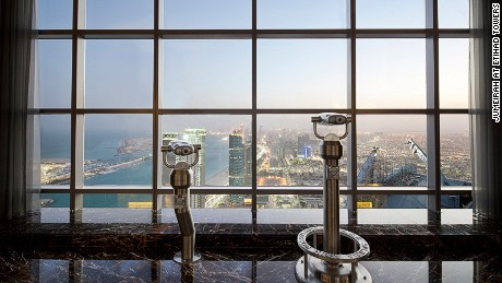 Jumeirah at Etihad offers tea with a view.