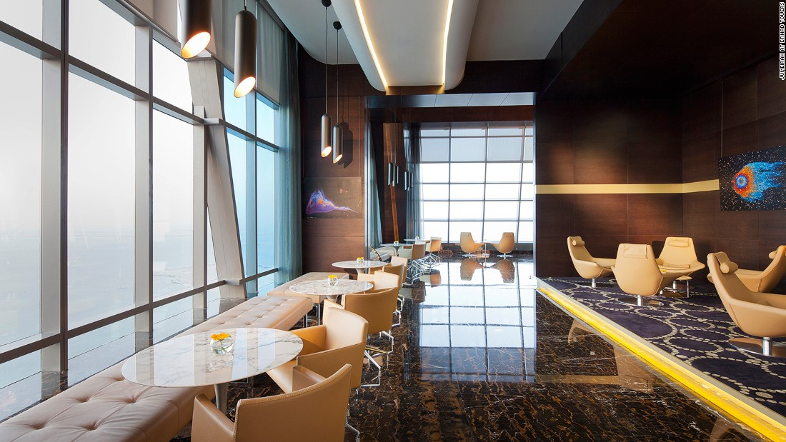 The Observation Deck at 300 -- named after its height in meters -- provides a chance to enjoy 360-degree views of Abu Dhabi's glittering skyline from the capital's highest vantage point.