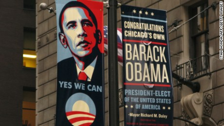 Shepard Fairey's image of Barack Obama went viral in 2008