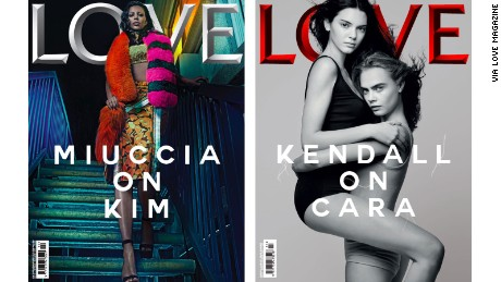 Kim Kardashian, Kendall Jenner and Cara Delevingne have all featured on the covers of Love Magazine