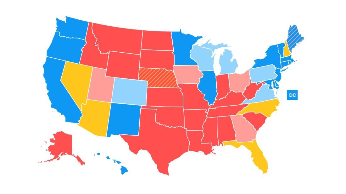 Road To CNNs General Election Map CNNPolitics - Election us map