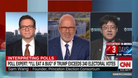 "Poll expert: ""I will eat a bug"" if Trump exceeds 240 _00011204"