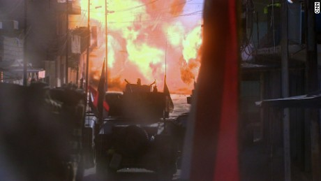 28 hours: Leading the Mosul attack, under fire, then trapped
