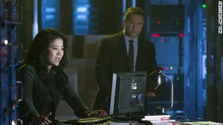 "A scene from an election-themed episode of CBS's ""Scorpion."""