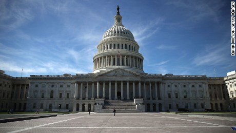 WASHINGTON, DC - OCTOBER 11:  The US Capitol is shown October 11, 2016 in Washington DC. House and Senate Republicans are in a close race with Democrats to keep control of both houses of Congress.  (Photo by Mark Wilson/Getty Images)