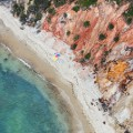Aerial beach photo Aquinnah-Umbrellas, Martha's-Vineyard