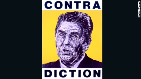CONTRA DICTION (Ronald Reagan) by Robbie Conal
