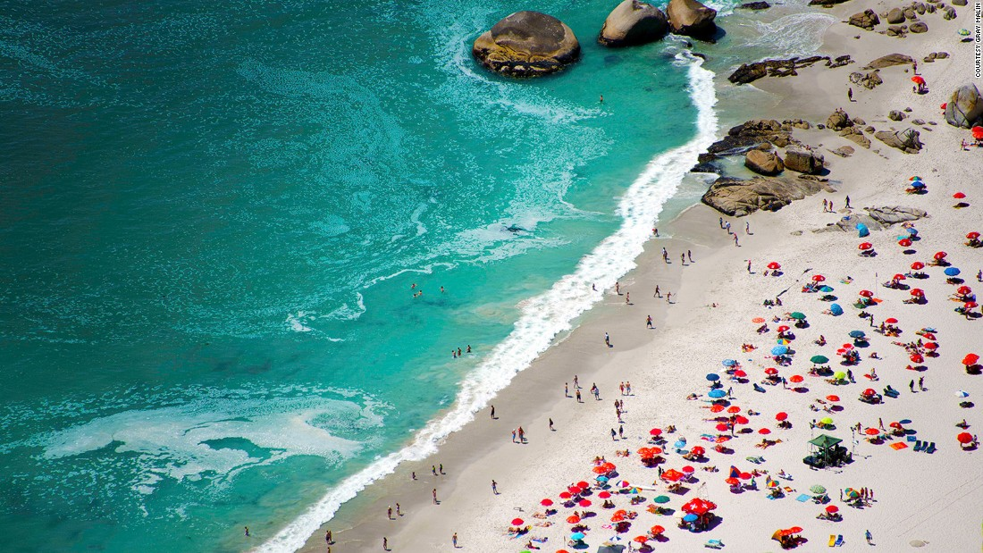 """Cape Town, South Africa is my favorite beach destination,"" says Malin. Among his shots of the area are this one of Camps Bay. ""I went to Cape Town for the first time three years ago and I've been every year since. I can't go a whole year without Cape Town."""