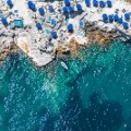 Aerial beach photo Capri Da Luigi Beach Club Italy