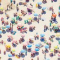 Aerial beach photo Ipanema Beach Umbrellas Rio