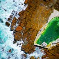 Aerial beach photo Kings Bath Cape Town