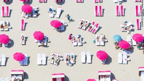 Aerial beach photo