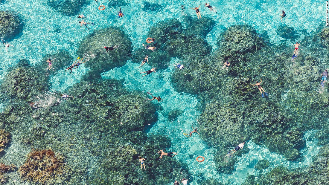 """We went on a snorkeling adventure one day, and we were with people from all over the world. It was shocking,"" says Malin, realizing Bora Bora's idyllic tropical lure attracts travelers from far and wide."