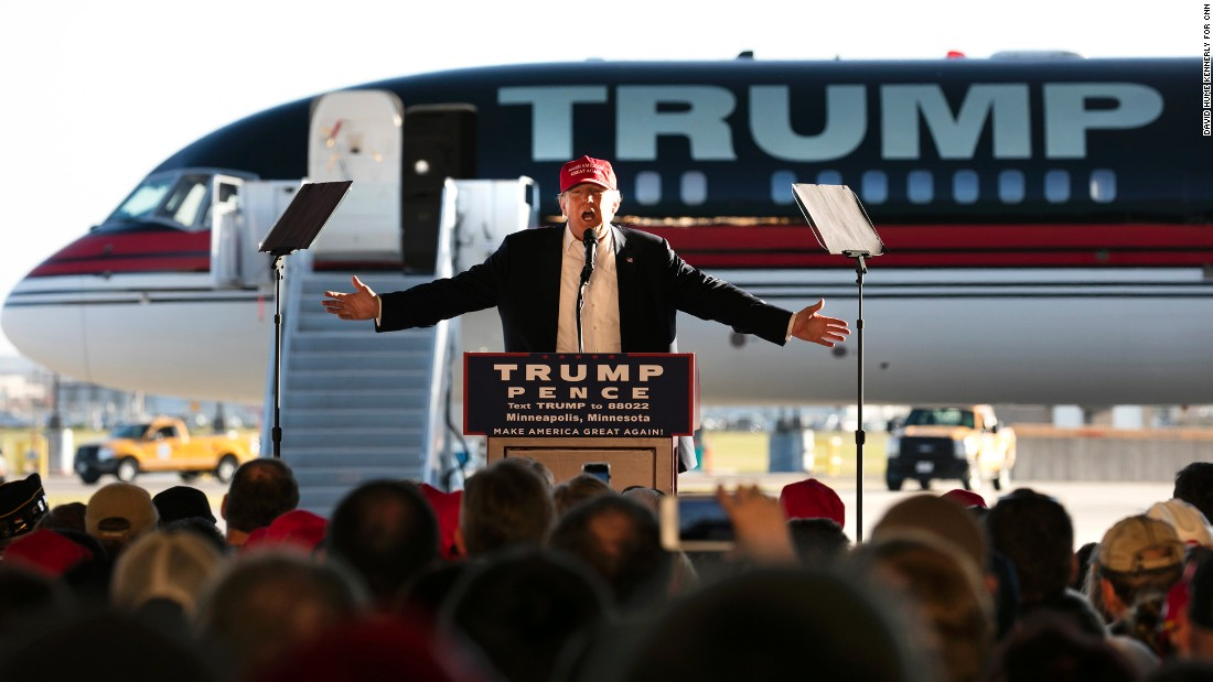 Trump addresses supporters in Minneapolis on November 6.